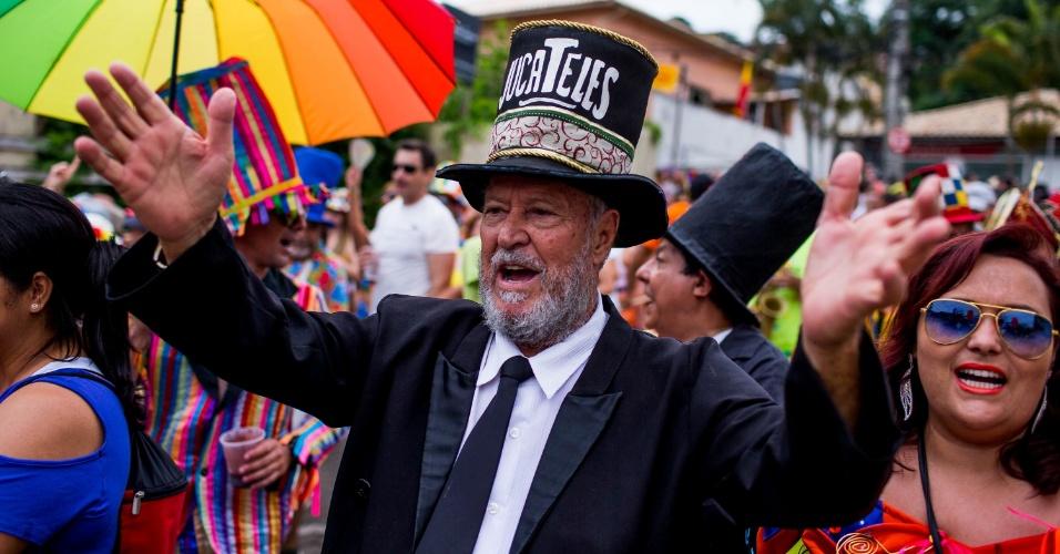 6.fev.2016 - O personagem que deu nome ao bloco Juca Teles abre oficialmente a folia no tradicional Carnaval de São Luiz do Paraitinga