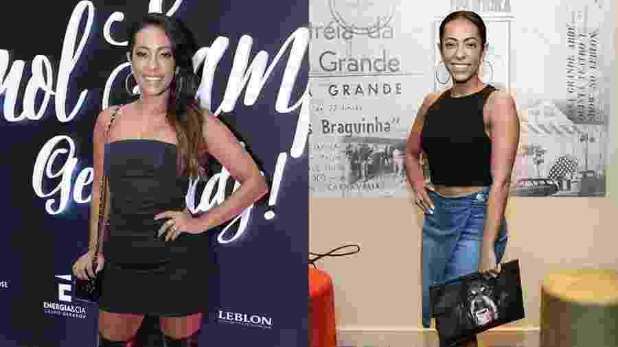 O antes e depois de Samantha Schmutz: em março de 2016 e junho de 2017 - Roberto Filho/Brazil News