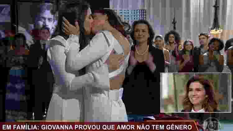 "Giovanna Antonelli e Tainá Müller na novela ""Em Família"" - Reprodução/TV Globo - Reprodução/TV Globo"