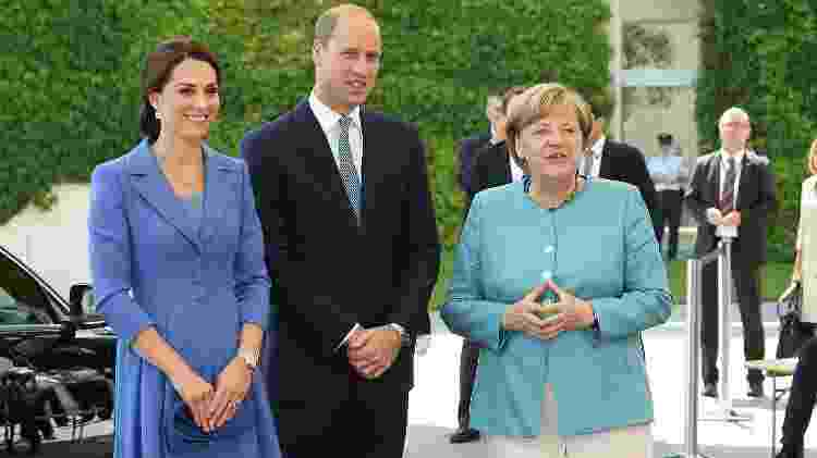 Kate, William e Angela Merkel - Getty Images - Getty Images