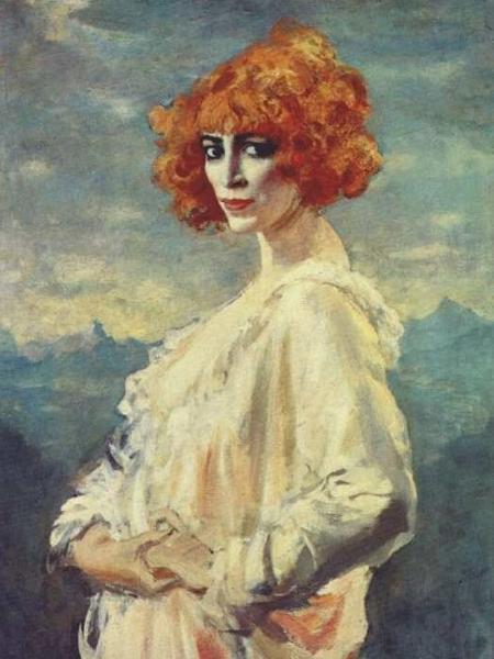 O amante de Casati Augustus John a pintou nesse retrato de 1919 que inspirou um poema de Jack Kerouac - Reprodução