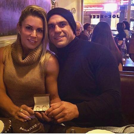 Joana Prado, a eterna Feiticeira, e Vitor Belfort - Reprodução/Instagram
