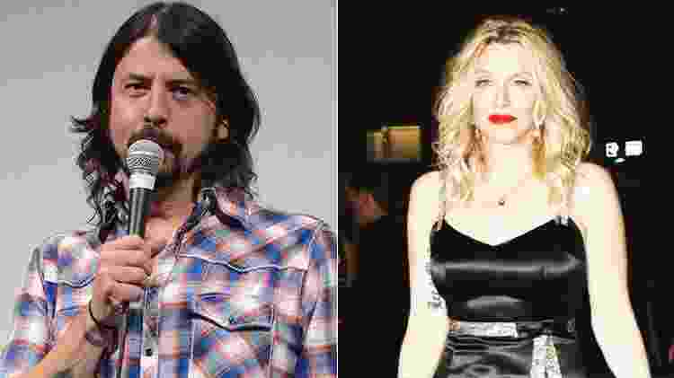 Dave Grohl x Courtney Love - Getty Images/Reprodução/Instagram - Getty Images/Reprodução/Instagram