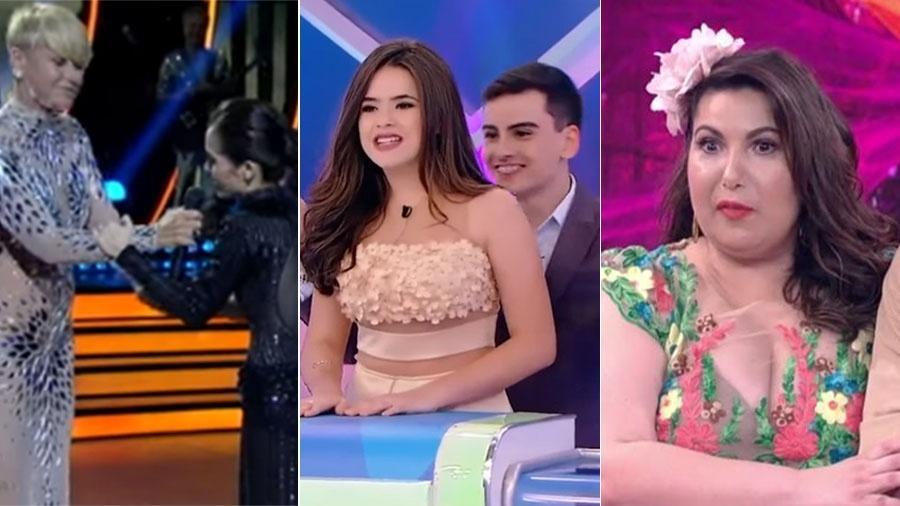 Xuxa e Maytê, Maisa e Dudu Camargo, Mariana Xavier: eles enfrentaram saias-justas na TV - Reprodução/Record/SBT/Globo