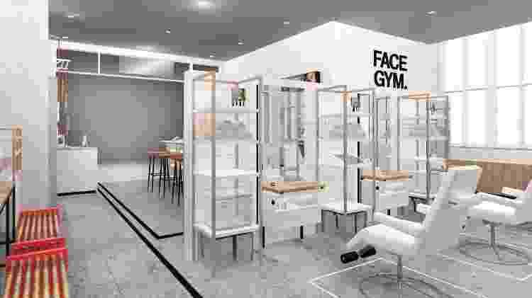 Nas aulas, os alunos aprendem a massagear, contorcer e amassar o rosto - Reprodução/FaceGym
