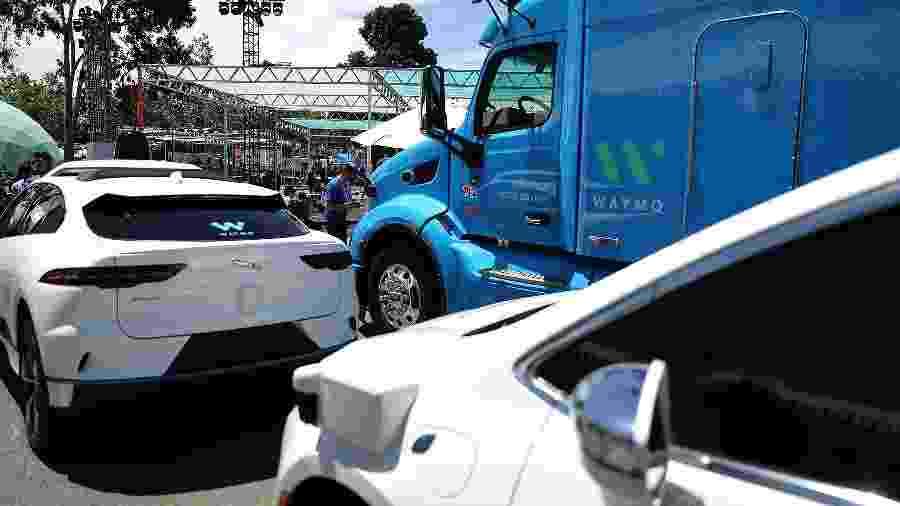 Waymo, empresa-irmã do Google, já tem caminhões autônomos em operação - Justin Sullivan/AFP