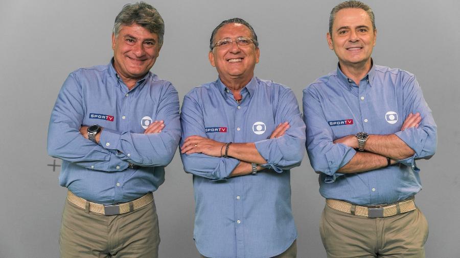 Cléber Machado, Galvão Bueno e Luís Roberto, o time de narradores da Globo na Copa - Globo/João Miguel Júnior