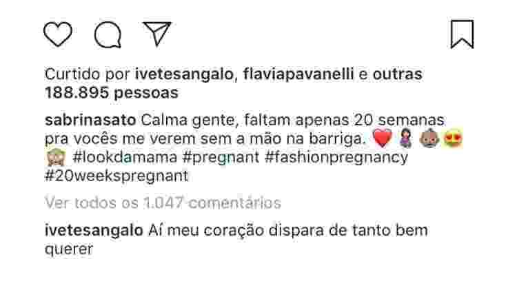 Ivete Sangalo elogia Sabrina Sato - Reprodução/Instagram - Reprodução/Instagram