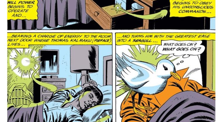 """Lanterna Verde transforma seu melhor amigo em uma gaivota em """"Lanterna Verde #7"""" (1961) - Reprodução/CBR - Reprodução/CBR"""