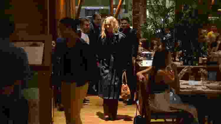 Faustão, Angélica e Luciano Huck em restaurante no Rio de Janeiro - Webert Belicio/AgNews - Webert Belicio/AgNews