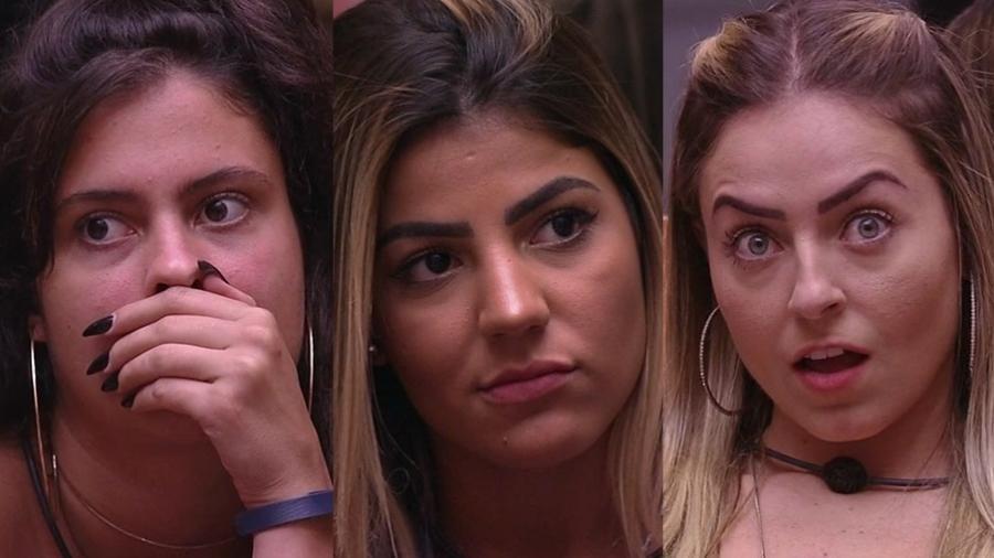 Hana, Hariany e Paula são as mais votadas pela casa - Montagem/TvGlobo