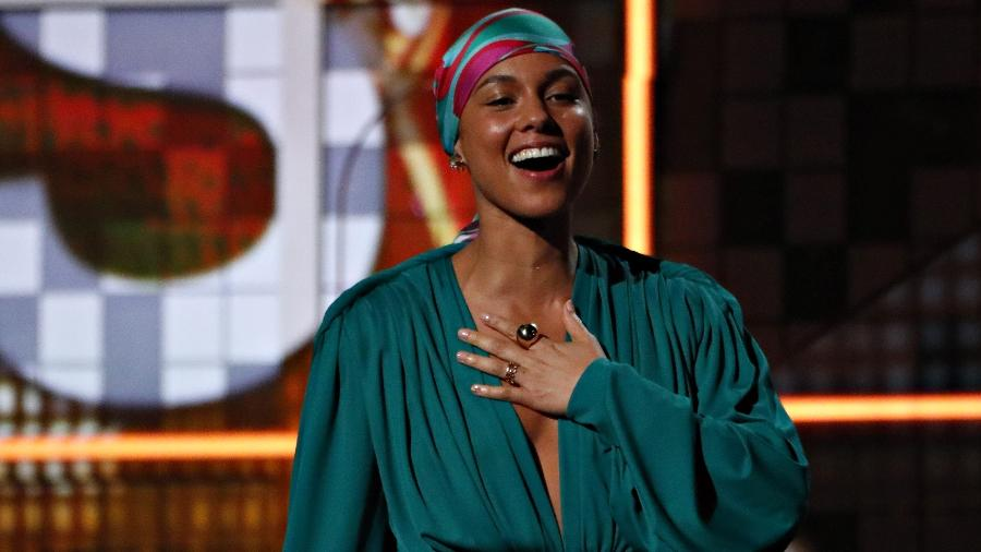 Alicia Keys durante a premiação do Grammy 2019 - Mike Blake/Reuters