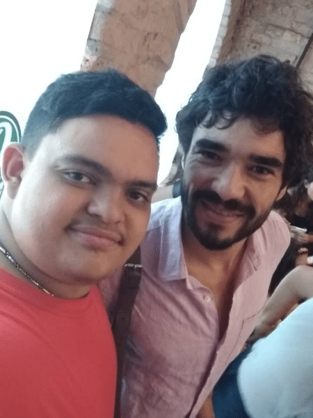 Caio Blat com o filho mais velho, Antonio - Reprodução/Instagram