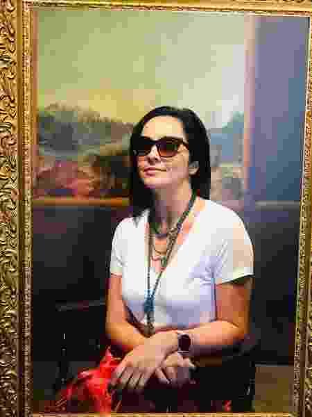 Izabella Camargo posa como Mona Lisa na exposição do Da Vinci - Reprodução/Instagram