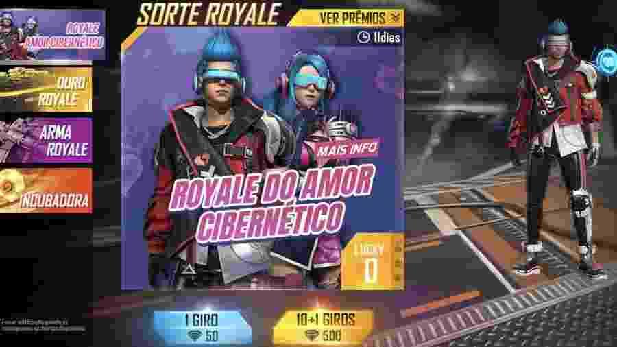 Free Fire Sorte Royale - Reprodução