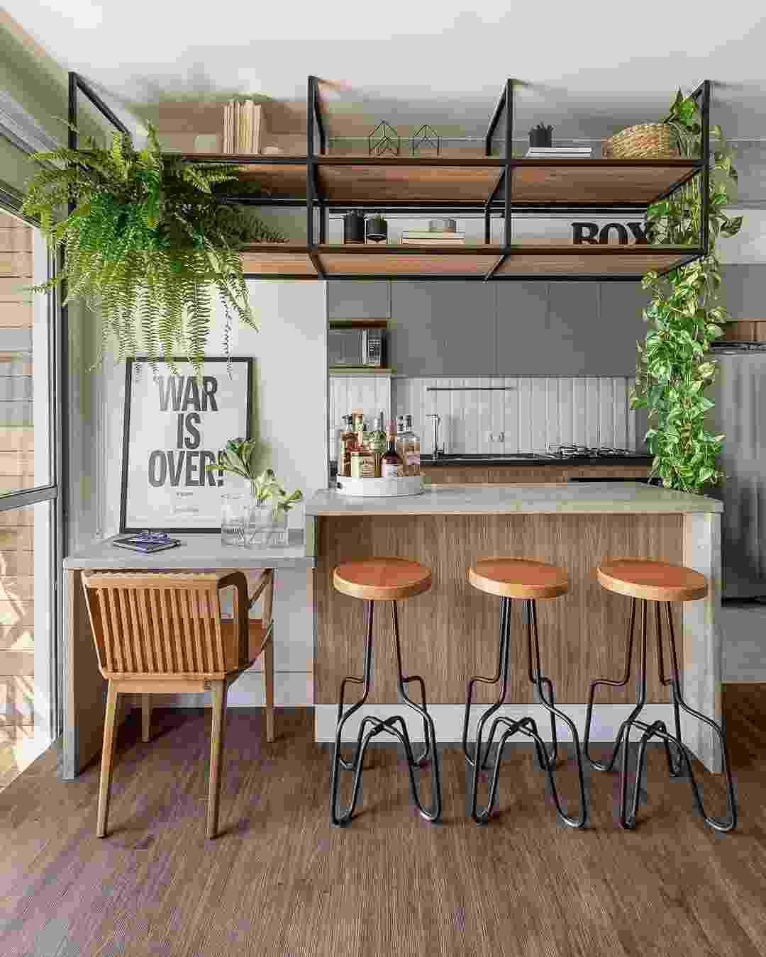 Balcão da cozinha: dicas para incrementar esse espaço com poucas mudanças - Reprodução/Pinterest