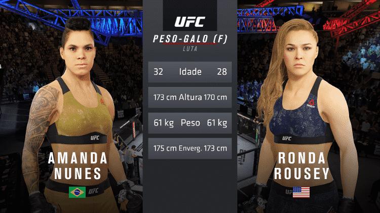 UFC 4 Amanda contra Ronda - Reprodução/Bruno Araujo - Reprodução/Bruno Araujo