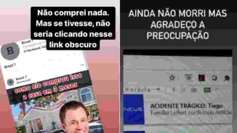 Tiago Leifert nega fake news, por meio de suas redes sociais - Reprodução/Instagram