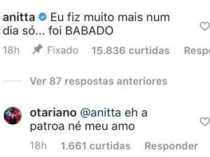 Anitta faz comentário sobre seus procedimentos estéticos - Reprodução/Instagram - Reprodução/Instagram