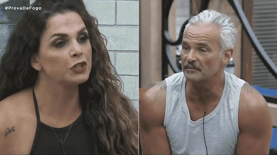 A Fazenda 2020: Mateus Carrieri e Luiza Ambiel tiveram áspera discussão  - Reprodução/Playplus