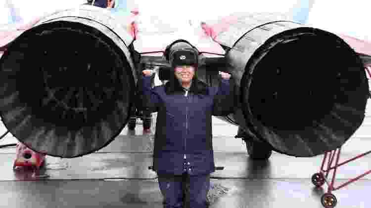 Debaixo de temperaturas negativas na Rússia, Dina fez embarcou para estratosfera - Arquivo pessoal - Arquivo pessoal