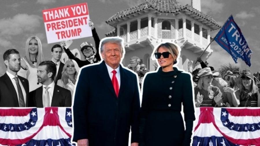 Donald Trump e Melania Trump deixaram a Casa Branca 4 anos antes do que gostariam - BBC
