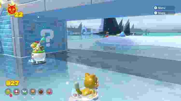 Super Mario 3D World: Bowser's Fury - Fase com água - Daniel Esdras/GameHall - Daniel Esdras/GameHall