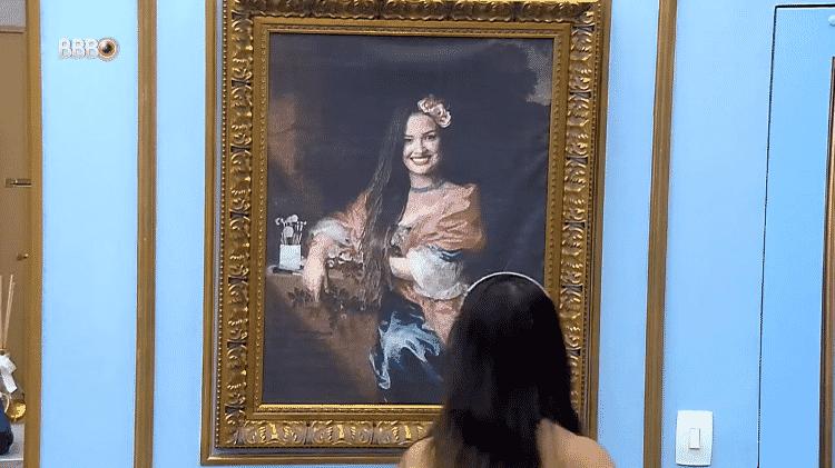 BBB 21: Juliette vê seu quadro na parede - Reprodução/Globoplay - Reprodução/Globoplay