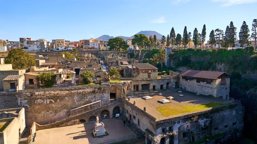 Sítio de Herculano, na Itália - Getty Images