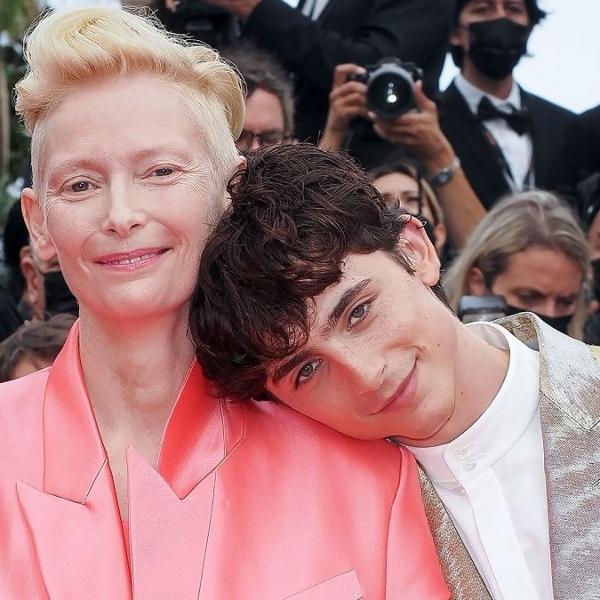 Tilda Swinton e Timothée Chalamet, a dupla que conquistou corações no Festival de Cannes 2021