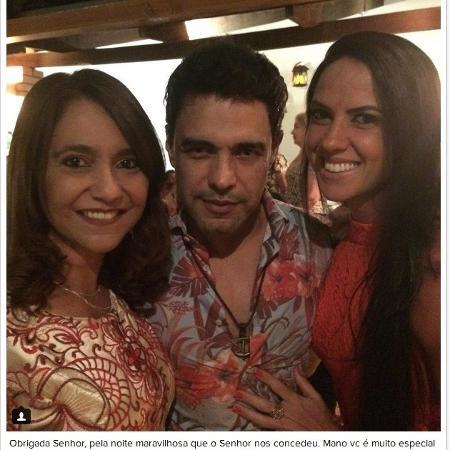 Irmã de Zezé di Camargo publica post elogiando Graciele Lacerda e coloca mais fogo na briga entre o cantor e a ex-mulher Zilú - Reprodução/Instagram/@marlenecamargo_