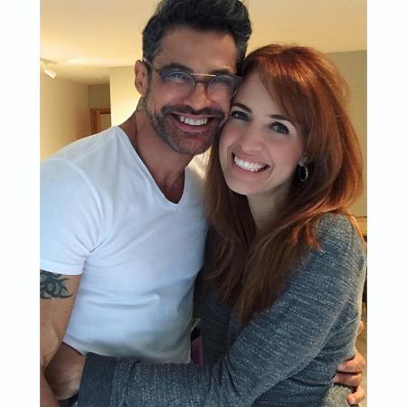O cabelereiro Ricardo Maia e Poliana Abritta - Reprodução/Instagram