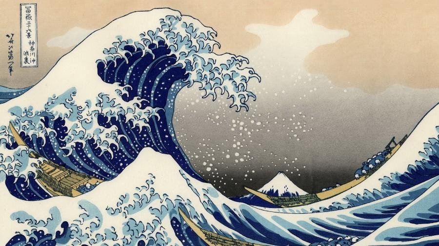 """A obra prima """"A Grande Onda sobre Kanagawa"""" - Reprodução"""