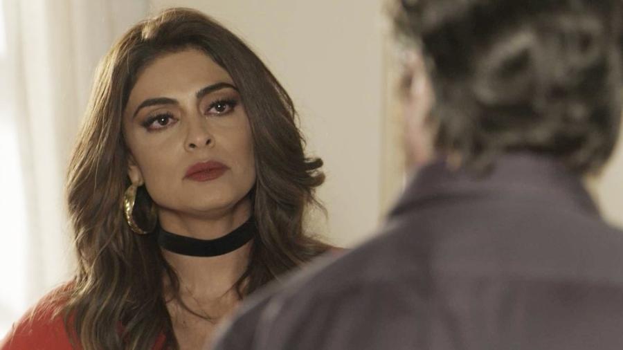 """Bibi (Juliana Paes) se recusa a entregar o marido em """"A Força do Querer"""" - Reprodução/GShow"""