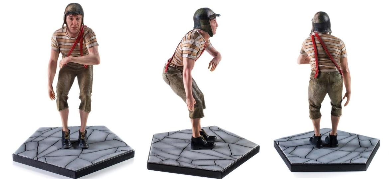 """SBT lança """"Chaves Piripaque Edition"""".  A estátua é comercializada no formato Art Scale 1/10, com aproximadamente 15 cm de altura - Divulgação"""