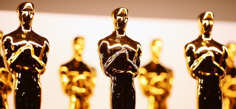 Estatuetas do Oscar nos bastidores da 89ª edição da premiação, em 26 de fevereiro de 2017 - Christopher Polk/Getty Images
