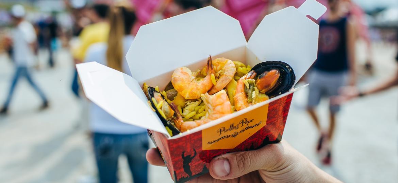Paella é uma boa pedida para quem quer comer bem no Lollapalooza - Felipe Gabriel/UOL