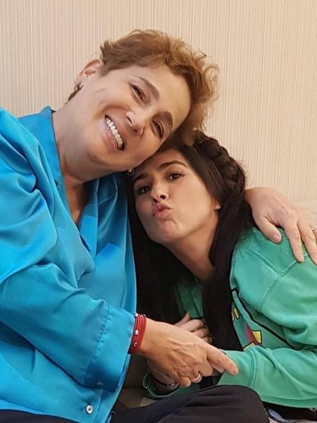 """Claudia Jimenez e Tatá Werneck nos bastidores de """"Deus Salve o Rei"""" - Reprodução/Instagram"""