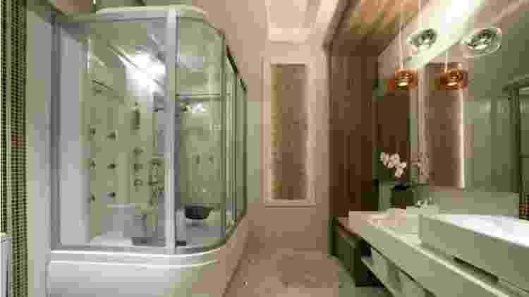 Banheiro que inspirou Vivi Fernandez lembra cápsula espacial - Arquivo pessoal - Arquivo pessoal