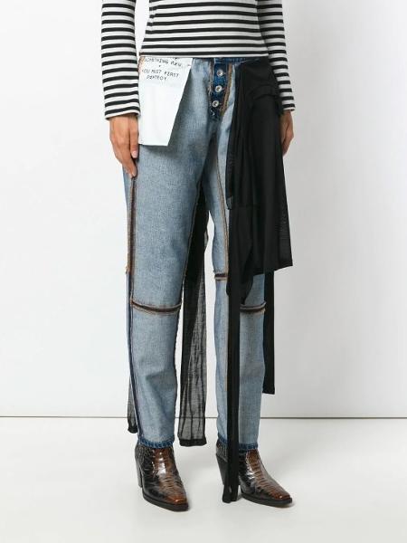 8cdb2e2b8 Calça jeans de seda