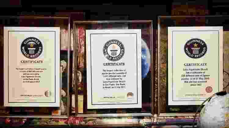 Os certificados que Luiza Figueiredo ganhou do Guiness World Records - Reprodução/Arquivo Pessoal - Reprodução/Arquivo Pessoal