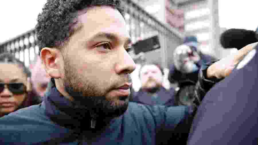 Jussie Smollett deixa prisão em Chicago após pagar fiança - Nuccio DiNuzzo/Getty Images