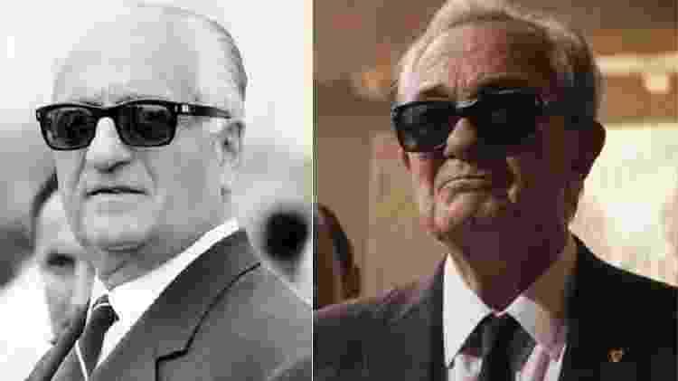 Enzo Ferrari e Remo Girone - Reprodução/Montagem