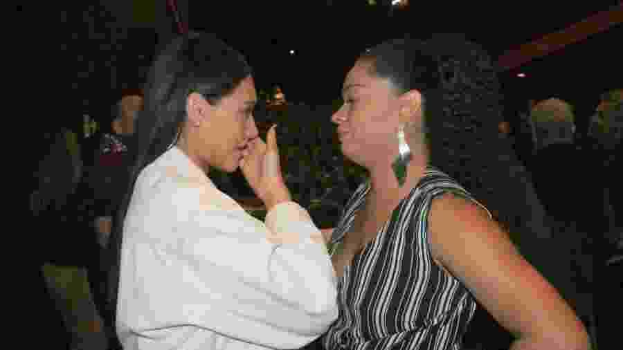 Debora Nascimento e Juliana Alves se emocionam em final de filme do Festival do Rio - Rogerio Fidalgo/Ag News