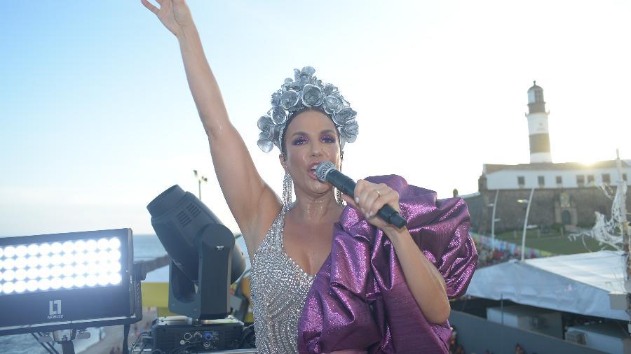 Ivete Sangalo levanta público de Salvador no Carnaval de 2020 - André Muzell/Brazil News
