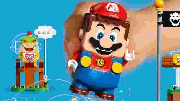 Lego Mario - Divulgação/LEGO e Nintendo - Divulgação/LEGO e Nintendo