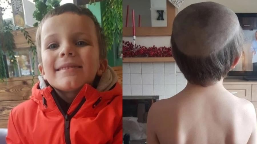 George pediu ao irmão que cortasse seu cabelo - SWNS:SOUTH WEST NEWS SERVICE