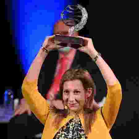 """A espanhola Eva Garcia Saenz de Urturi é autora de """"Aquitania"""" - LLUIS GENE/AFP"""