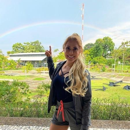 Joelma chamou atenção para arco-íris - Reprodução/ Instagram