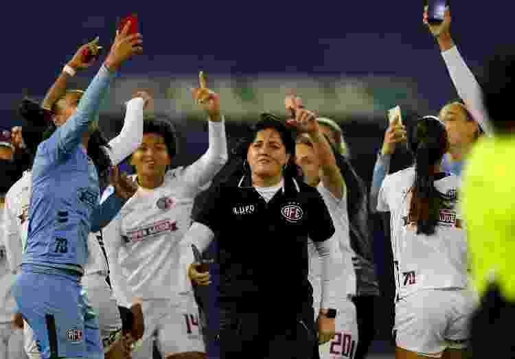 O time feminino da Ferroviária celebrou o 2º título na Libertadores, com Lindsay Camila como técnica - AFP - AFP